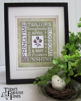 spring green subway art free printable