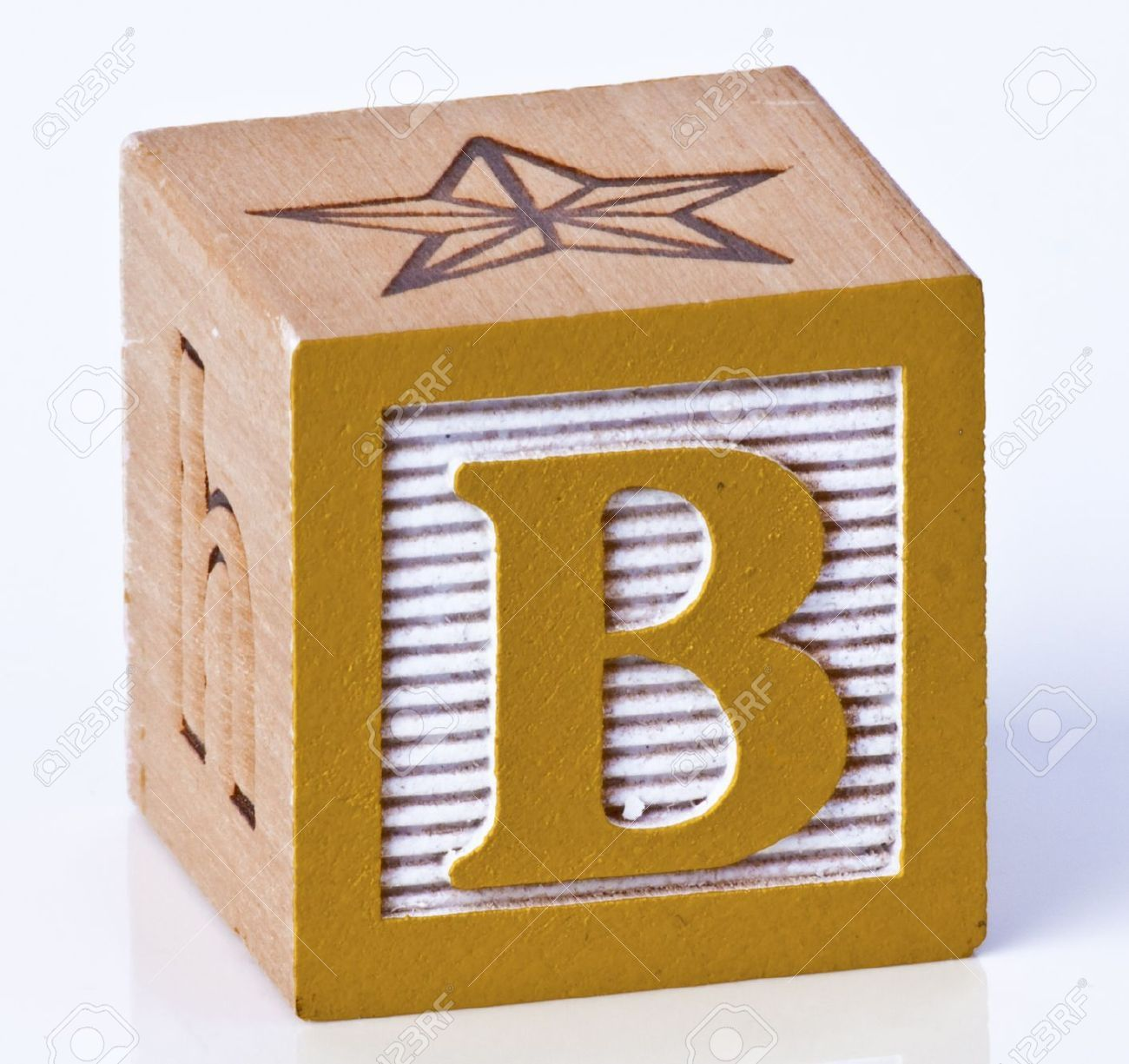 Wood Block Letters ~ Letter wood block used as end table living in a
