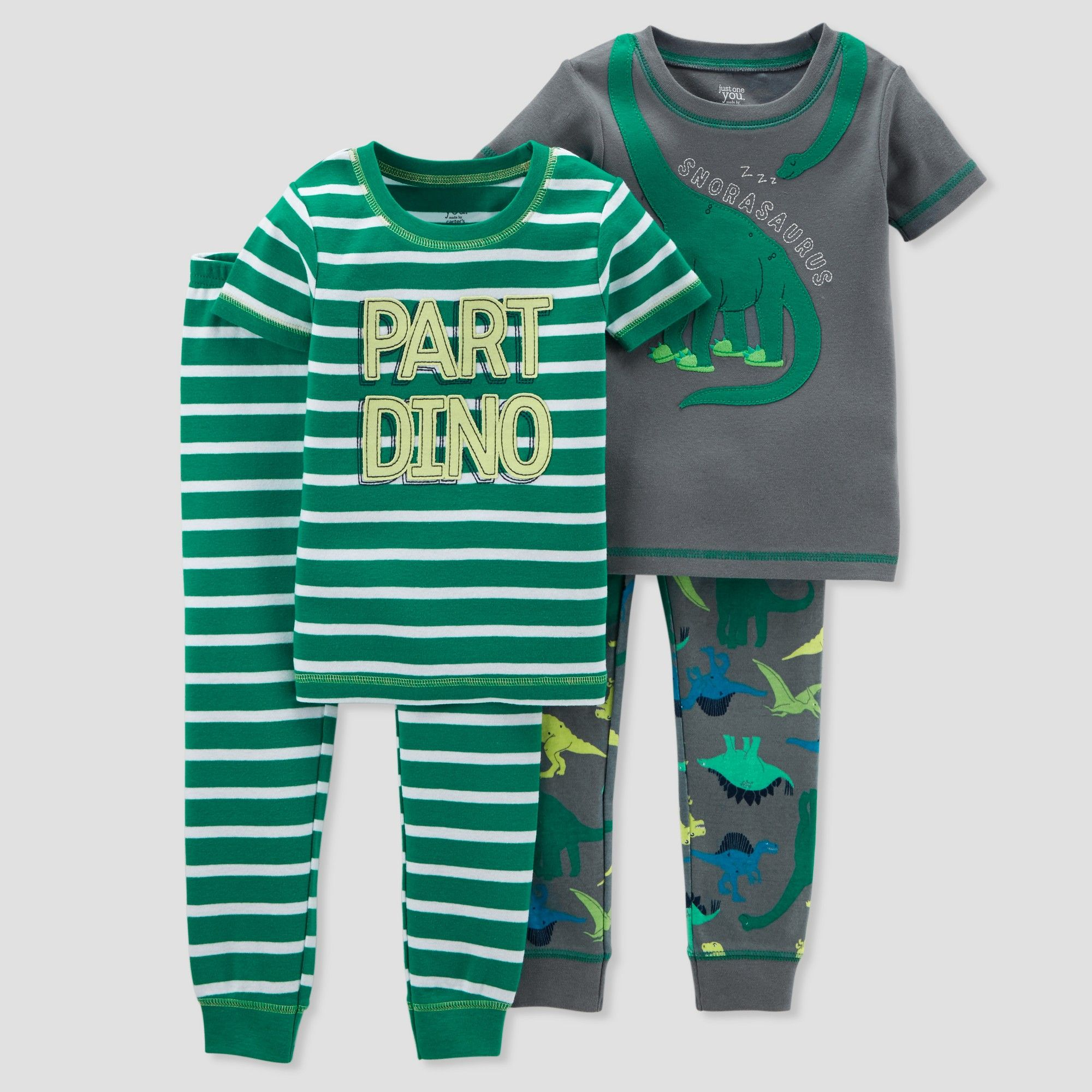 097597fa04d6 Toddler Boys  4pc Cotton Dino Pajama Set - Just One You made by ...