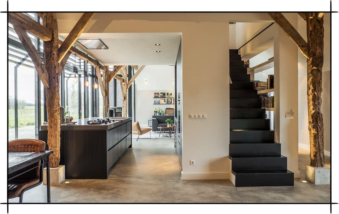 das moderne bauernhaus von joep van os jetzt treppe k che und scheunen. Black Bedroom Furniture Sets. Home Design Ideas