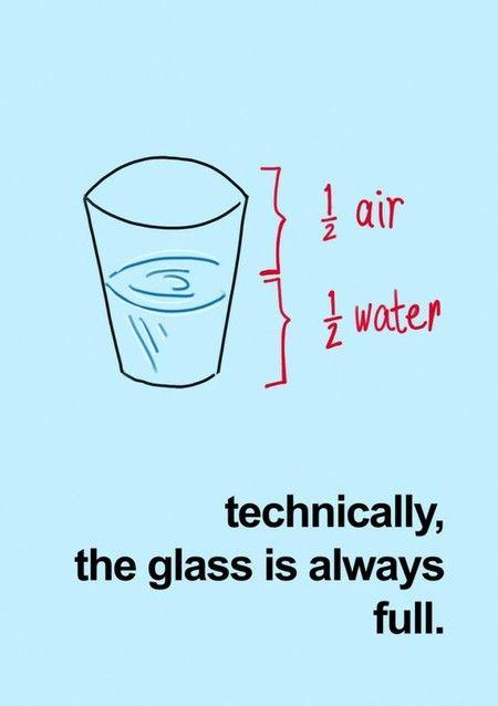 """El vaso, según se mire, """"siempre está lleno"""""""