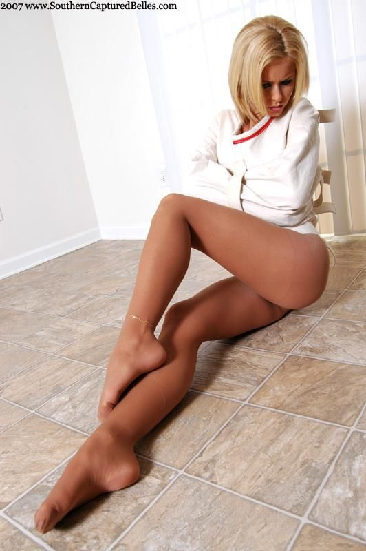 Something and Sexy legs in tan nylons