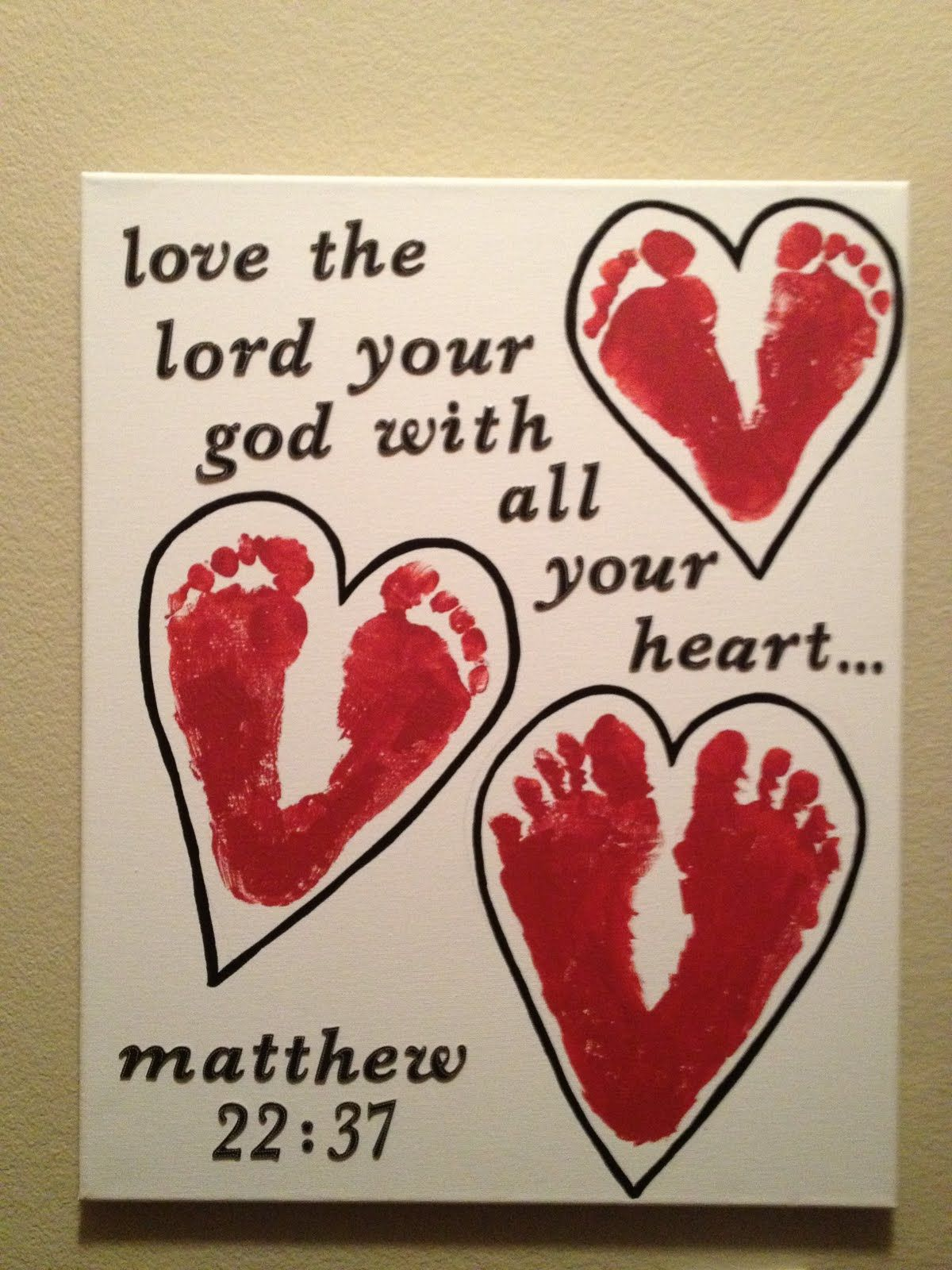 crafts about love the lord your god