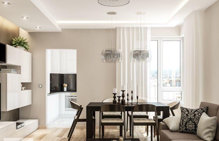 kaltweißes LED Licht im Wohnzimmer - abgehängte Decke und