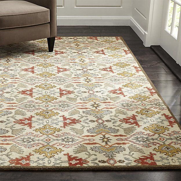Delphine Orange Wool 9\'x12\' Rug | Crate and Barrel | carpet ...