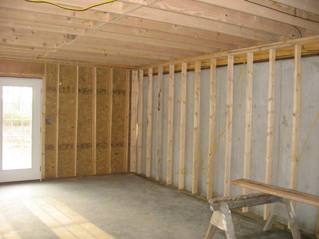 Walkout Framing Basement Walls