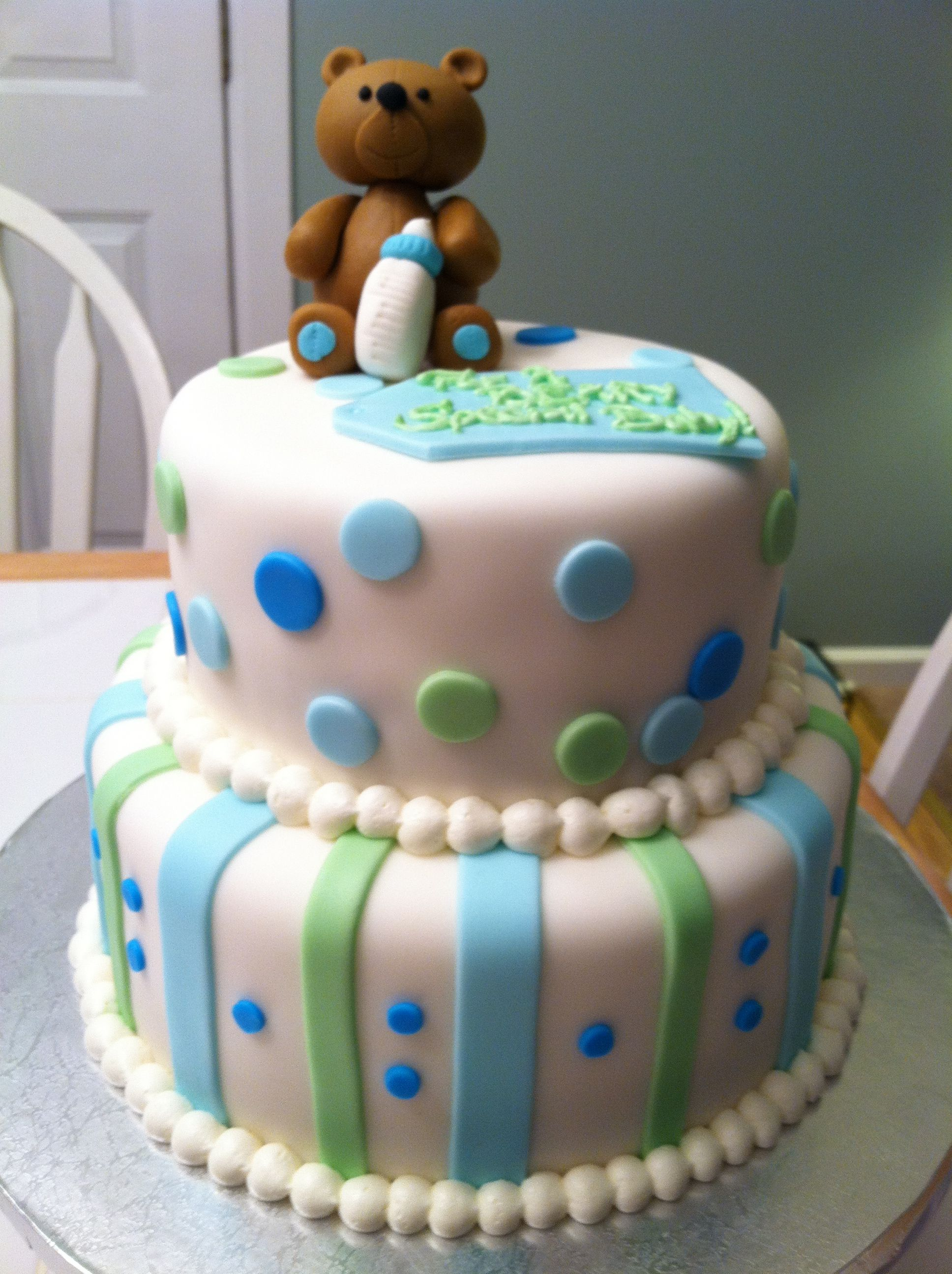 Teddy Bear Baby Shower Cake! J-Cakes!! Pinterest ...