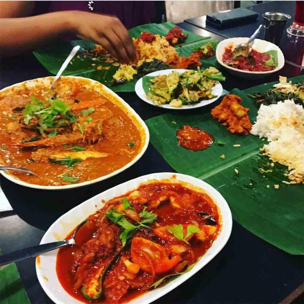 Passions Of Kerala Crab Masala Banana Leaf Rice Halal Recipes Food South Indian Cuisine