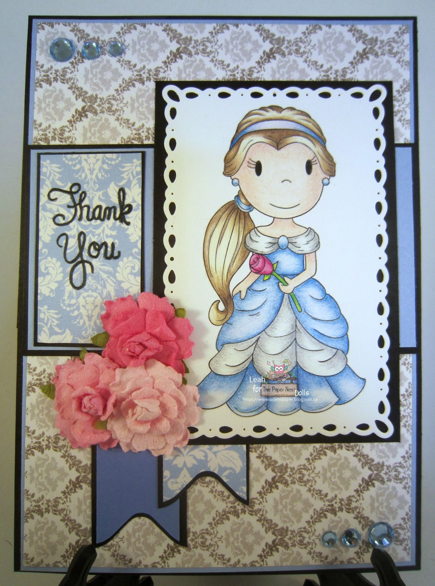 DT project for The Paper Nest Dolls, March 2015, using Princess Rose from the Fairy Tale Collection, by Leah Tees