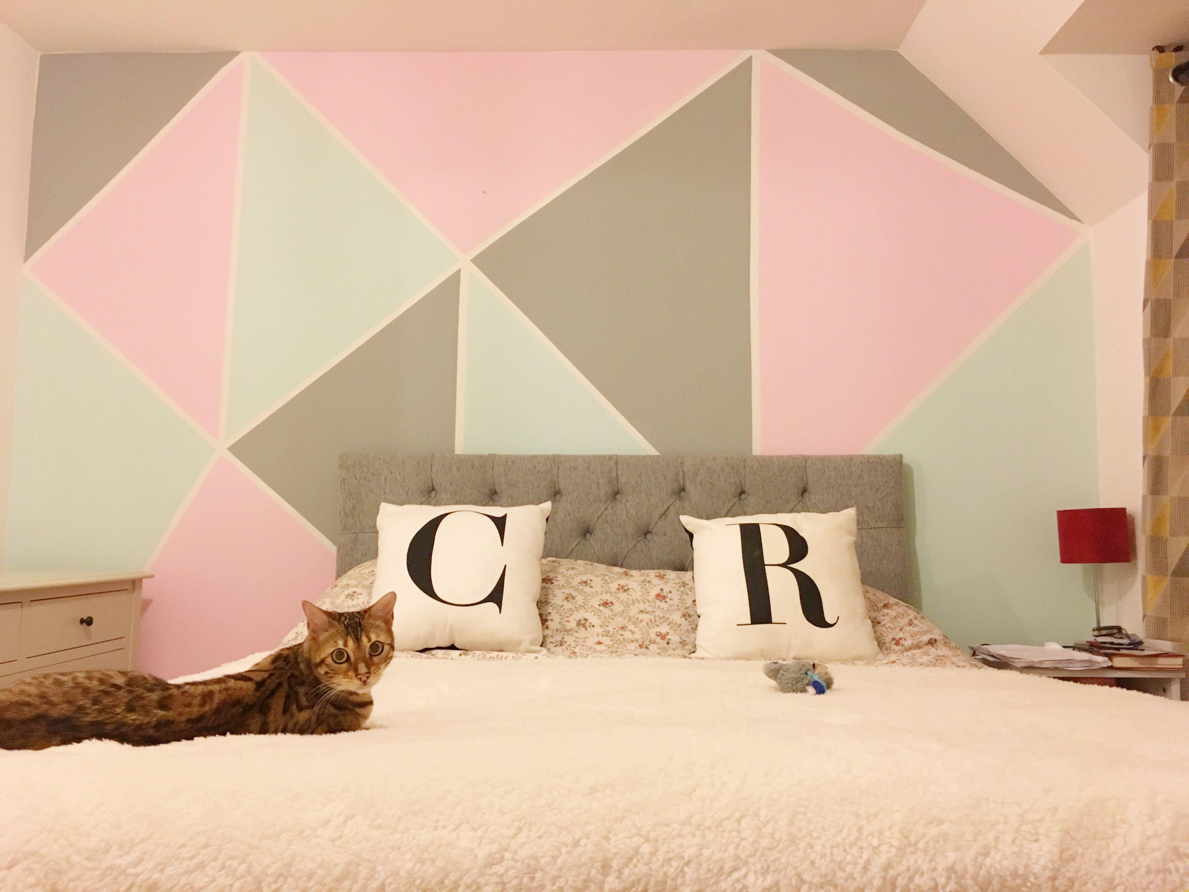 Geometric Wall Art Pastels - Geometric Wall - Pinterest