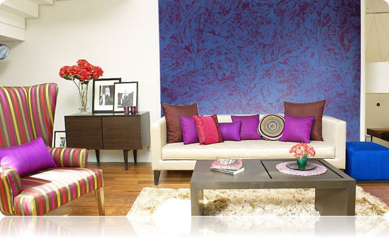 Decorative effect paint royale play dapple asian for Drawing hall wall designs