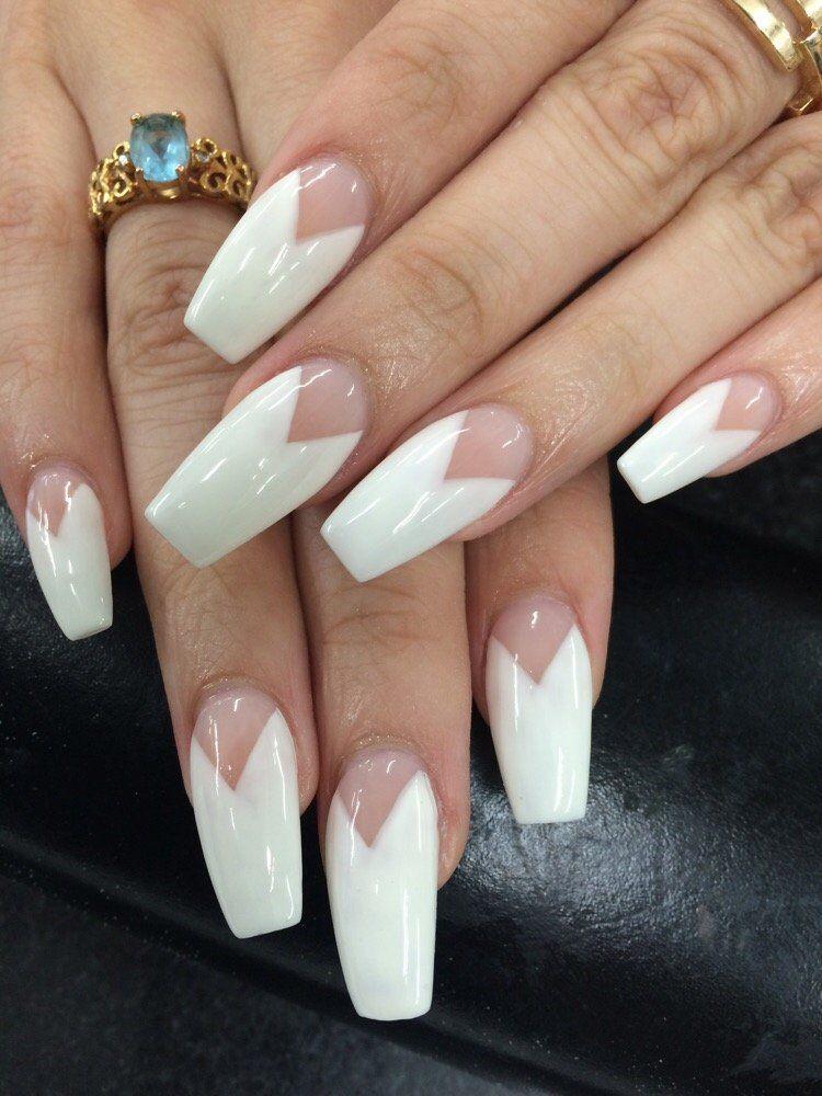 Black French Tip Stiletto Nails - http://www.mycutenails.xyz/black ...