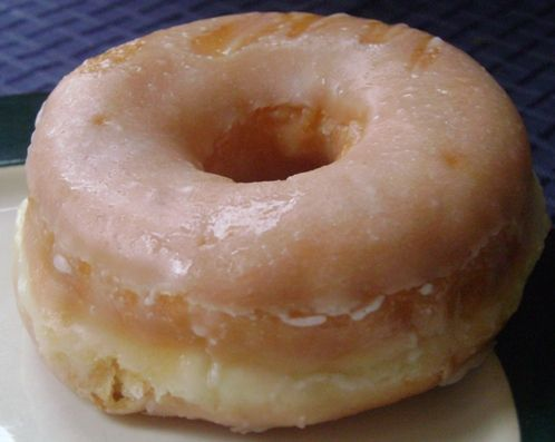 """What a temptation! So many calories...""""sniff"""" glazed ..."""