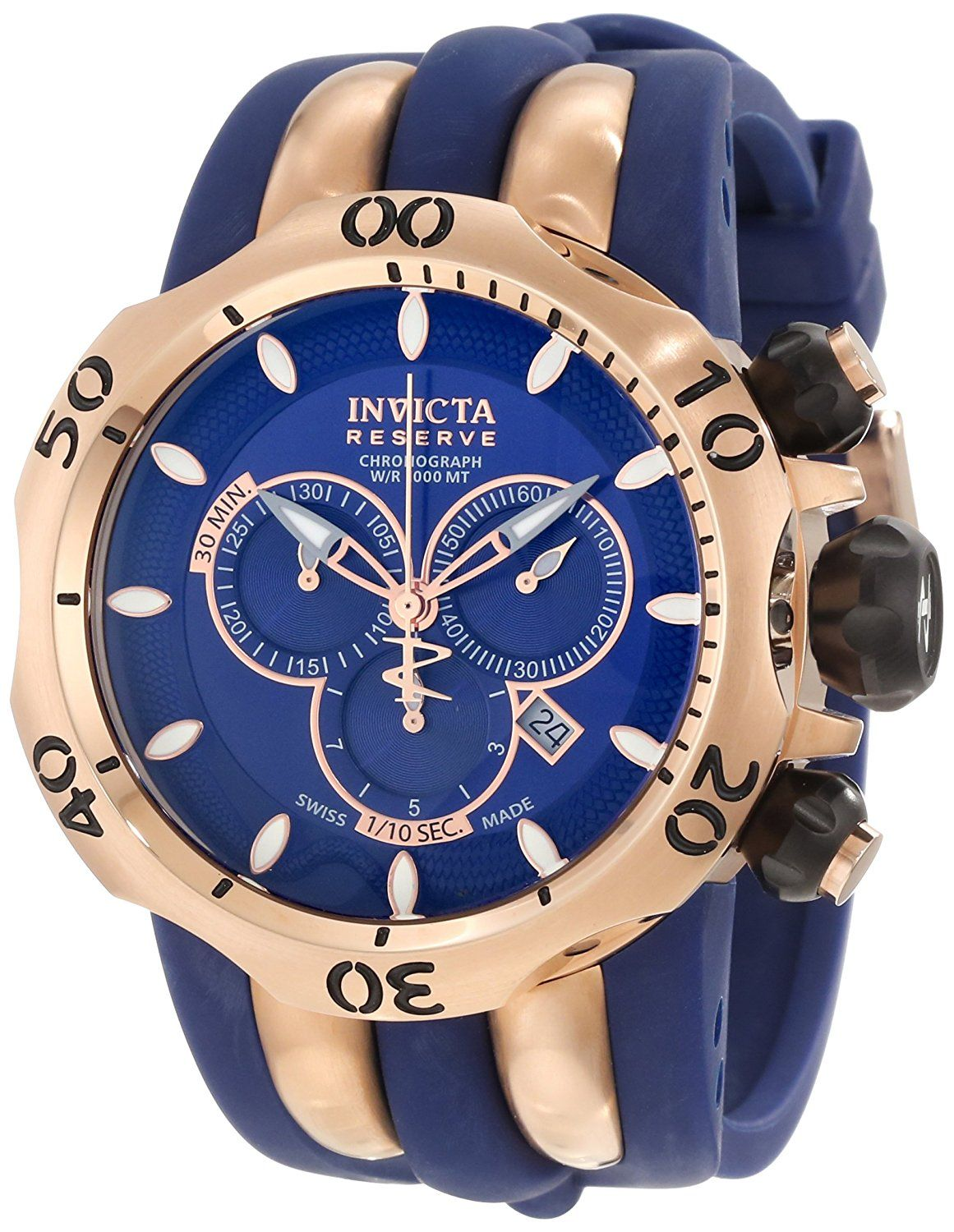 Invicta Men's 10831 Venom Reserve Chronograph Blue Dial Watch -- Find out more about the great watch at the image link.