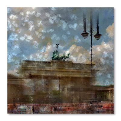 Americanflat 'City Art Berlin Brandenburg Gate II' by Melanie Viola Graphic Art Size: 1