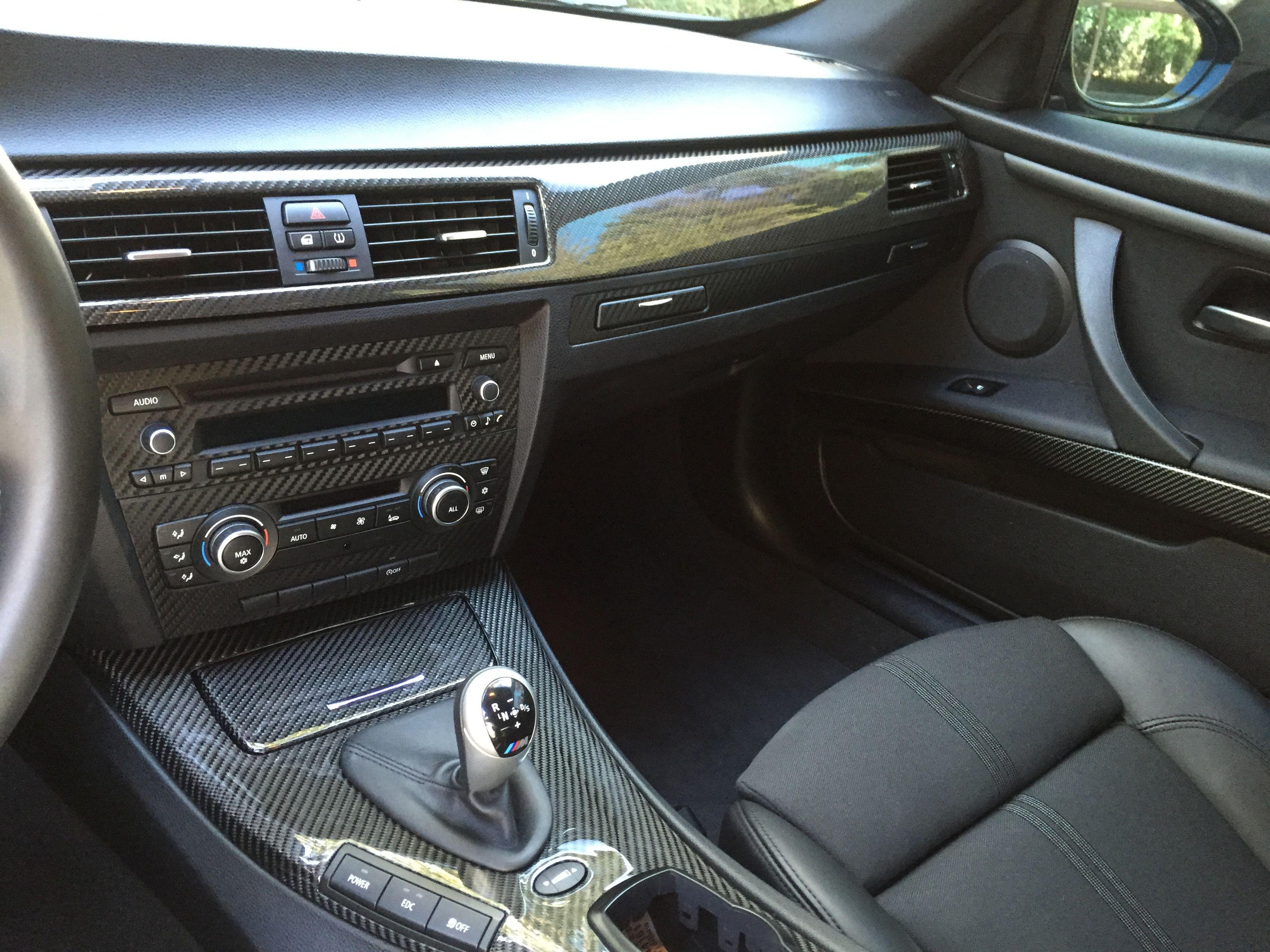 Carbon Fiber Interior Trim Kit On A Bmw E92 M3 Carbon Fiber