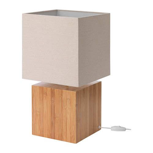 Love this looks!- Table lamp IKEA Made of bamboo, which is an easy ...