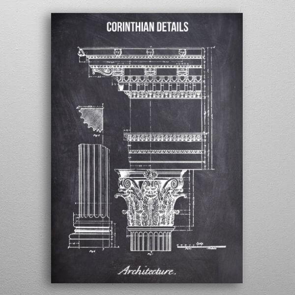 corinthian details by FARKI15 DESIGN | metal posters - Displate | Displate thumbnail