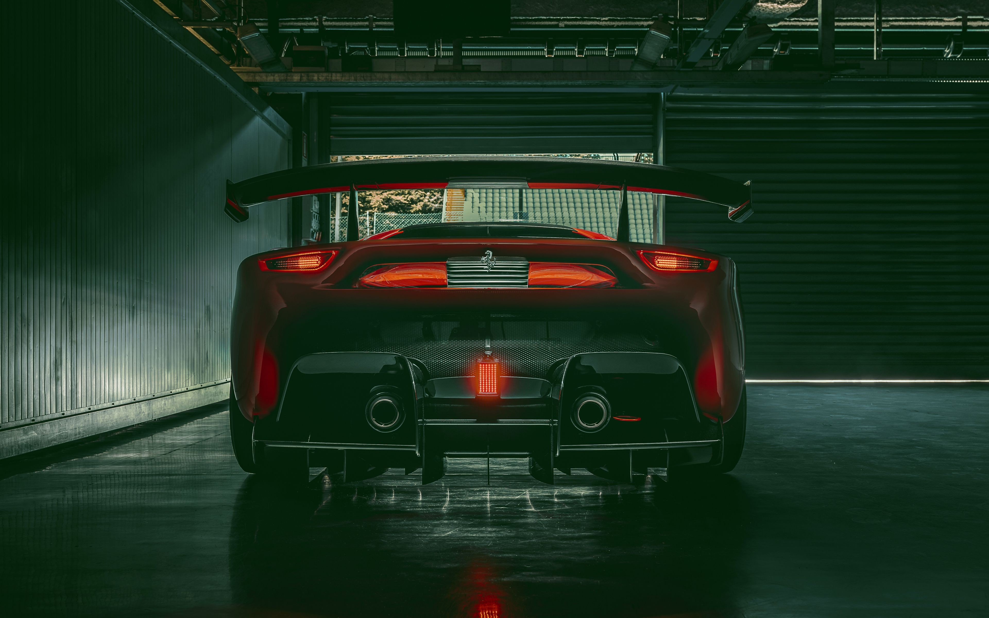 3840x2400 Rear View Ferrari P80c 2019 Car Wallpaper Car Wallpapers Rear View Views 2018 hyundai le fil rouge 4k 2