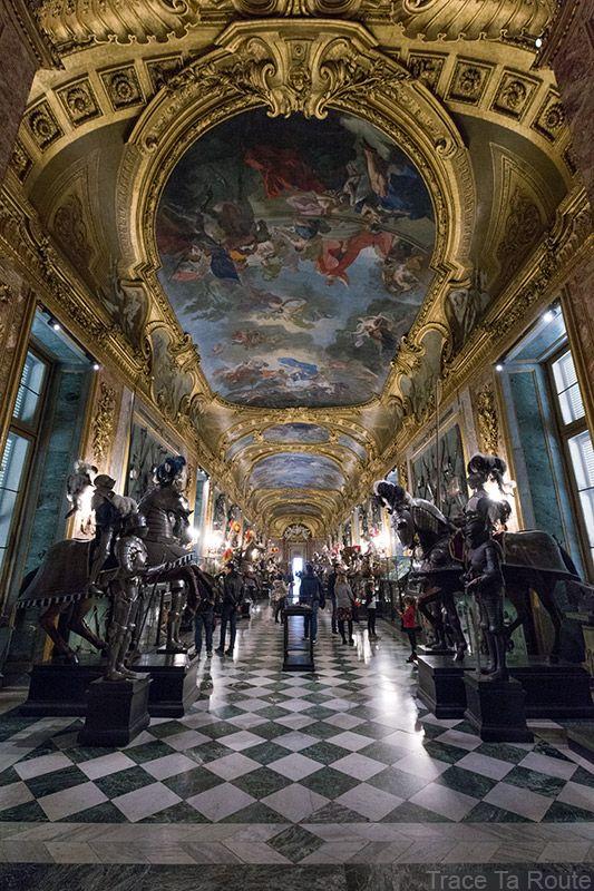 Palazzo Reale Turin - Plafond salle d'Armes Armeria Reale du Palais Royal