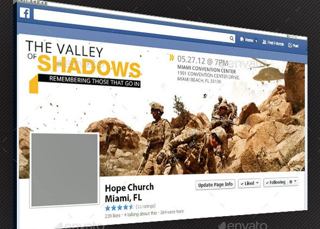 Valley Of Shadows Facebook Timeline Cover Template  Website