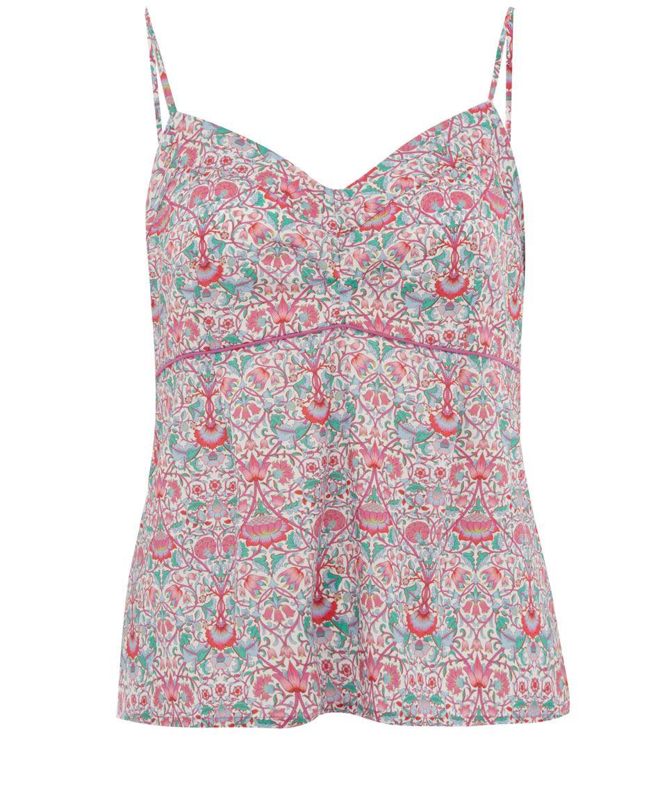 Pink Lodden Print Cotton Vest Top