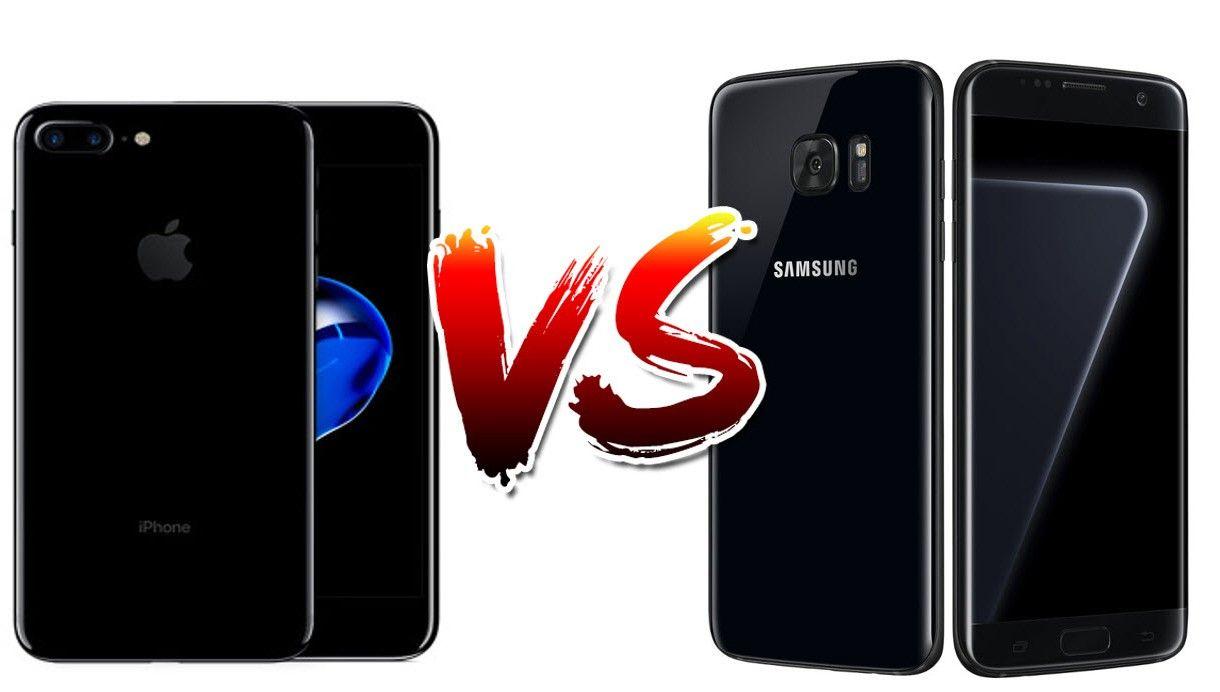 Iphone 7 Plus Jet Black Vs Galaxy S7 Edge Black Pearl Gadgets Finder Iphone Iphone 7 Plus Phone