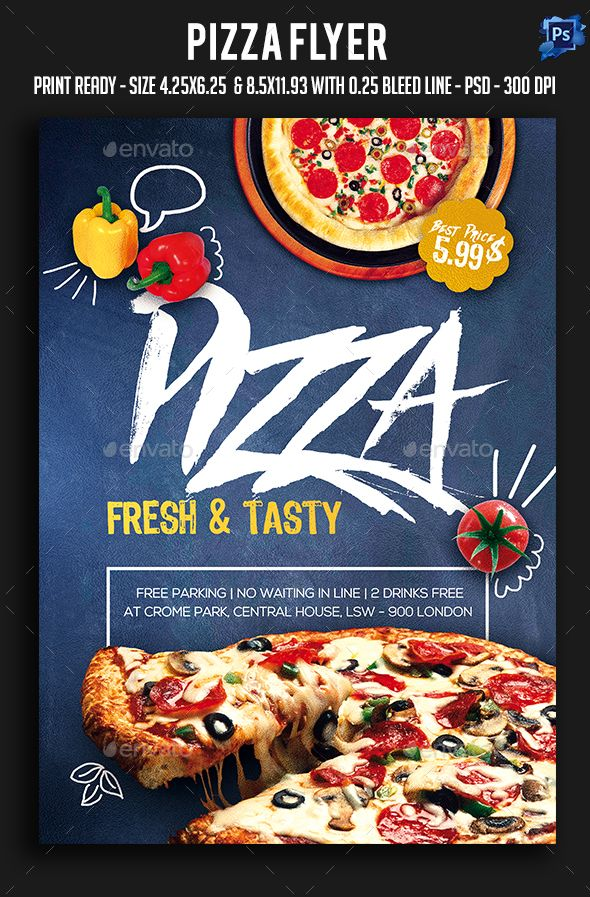 Pizza Flyer  Flyer Template Pizzas And Template