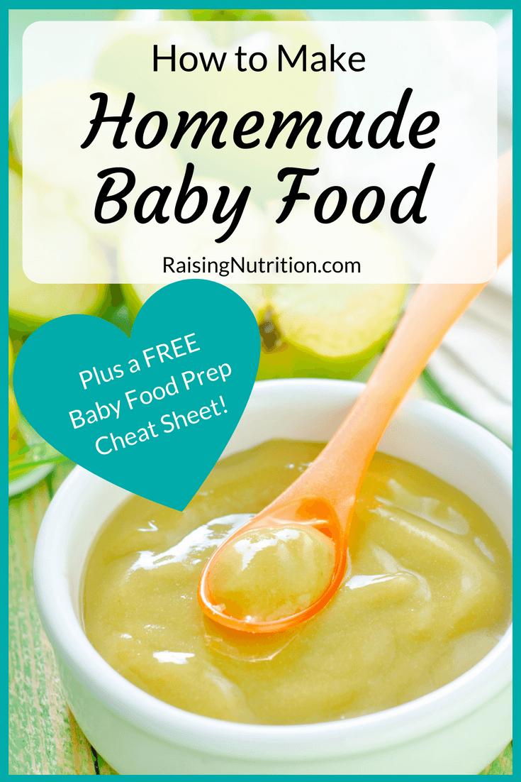 How To Make Homemade Baby Food Free Cheat Sheet Baby Food Recipes Homemade Baby Food Food