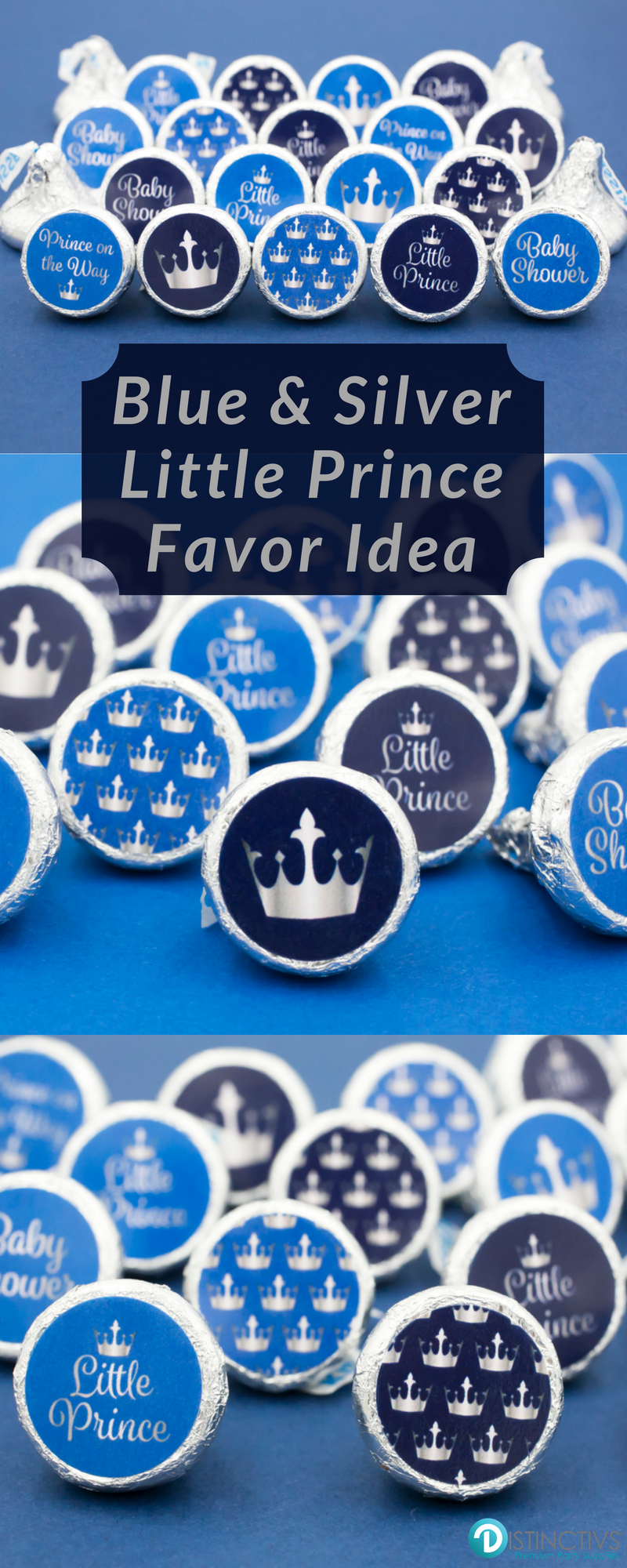 add these silver and blue little prince baby shower party favor rh pinterest com