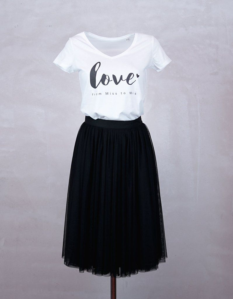"""Constant Love T-Shirt Braut """"Love from Miss to Mrs"""""""