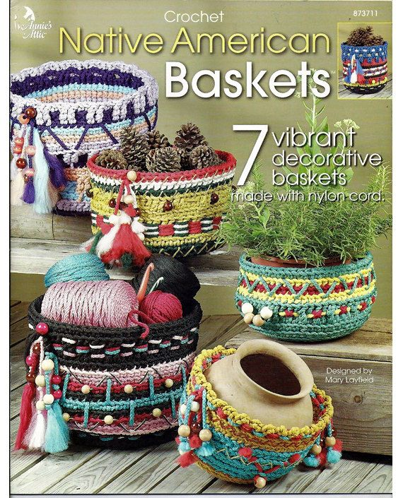 Native American Baskets Crochet Pattern Book Annies Attic 873711 ...