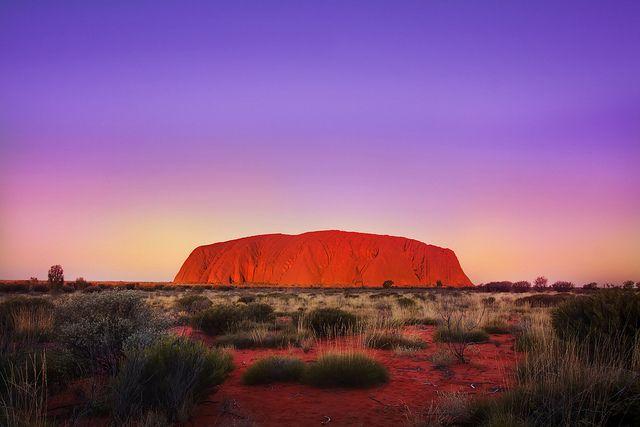 desert plains of central Australia near Alice Springs within the Uluru-Kata Tjuta National Park