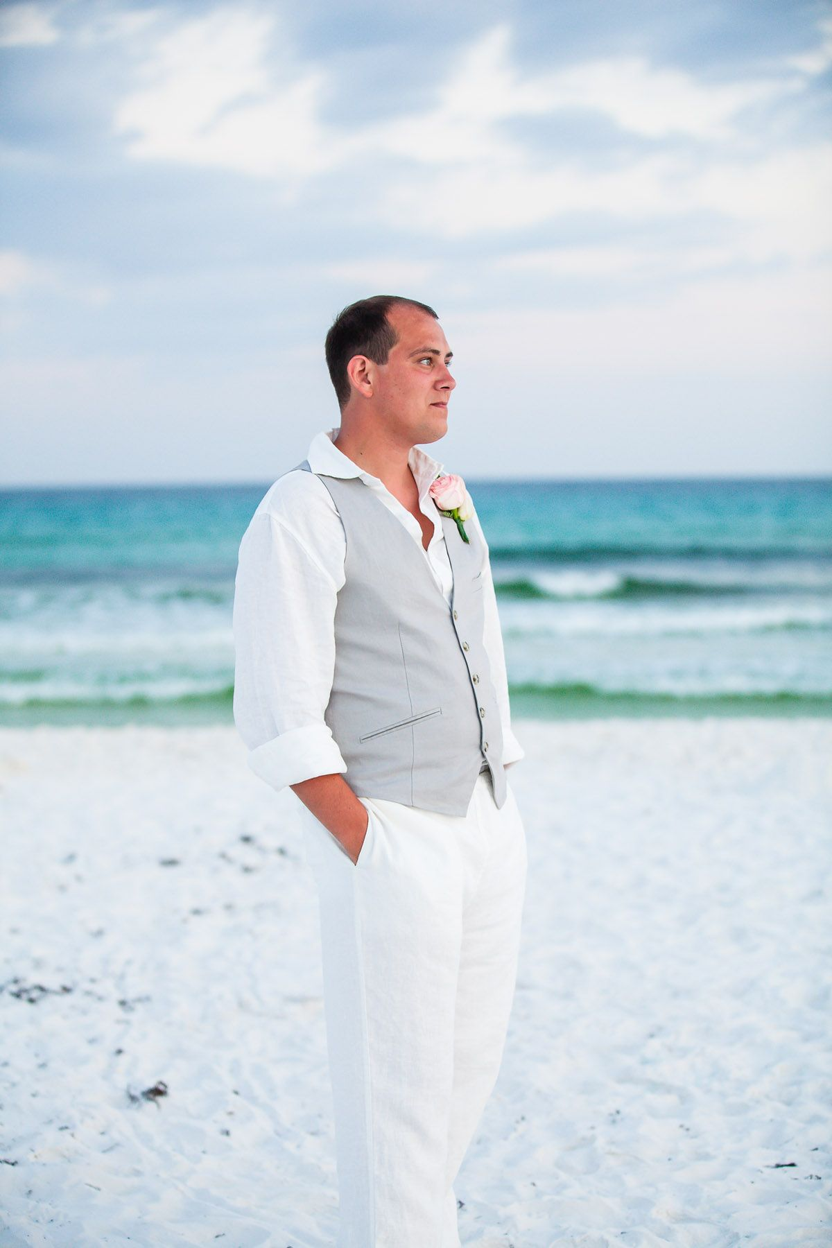 Beach Wedding Groom S Attire Destination Wedding Groom Amy Little