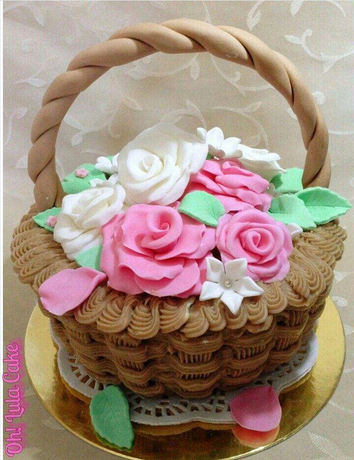 Tarta cesta de flores oh lula cake pinterest for Decoracion de cestas