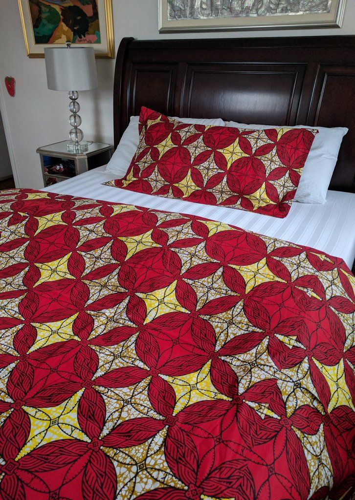 Shop For African Print Ankara Double Sided Duvet Cover