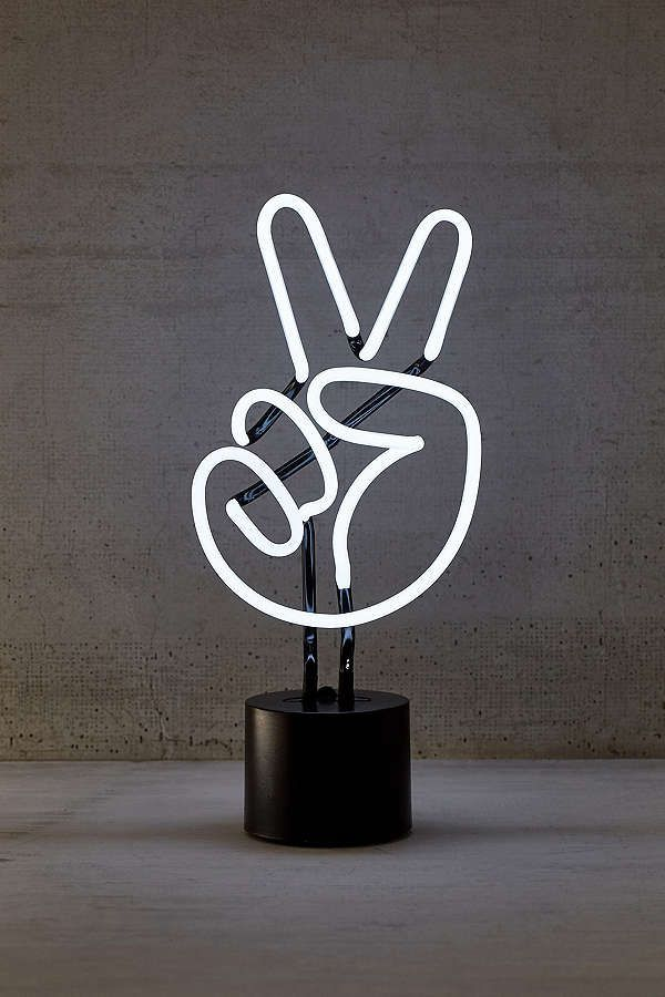 Peace Neon Sign Table Lamp Neon Signs Neon Marquee Lights