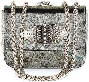 0158c30fab Christian Louboutin Sweet Charity Baby Shoulder Bag, Silver ...