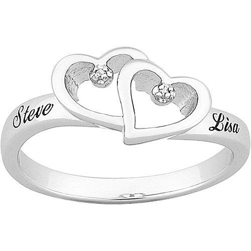 4832cbe6fe promise rings for girlfriend | Silver Ring, Personalized Heart Promise  Ring, Engraved Promise Ring .