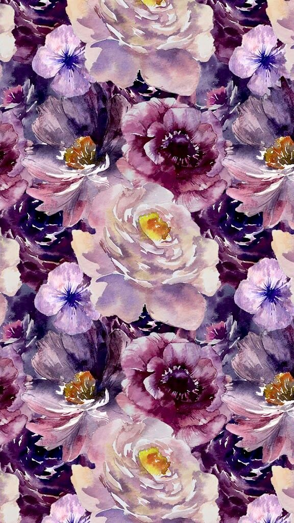 Purple Flowers Pattern Ilustration Background Wallpaper Best Flower Wallpaper Flower Wallpaper Iphone Wallpaper Vintage