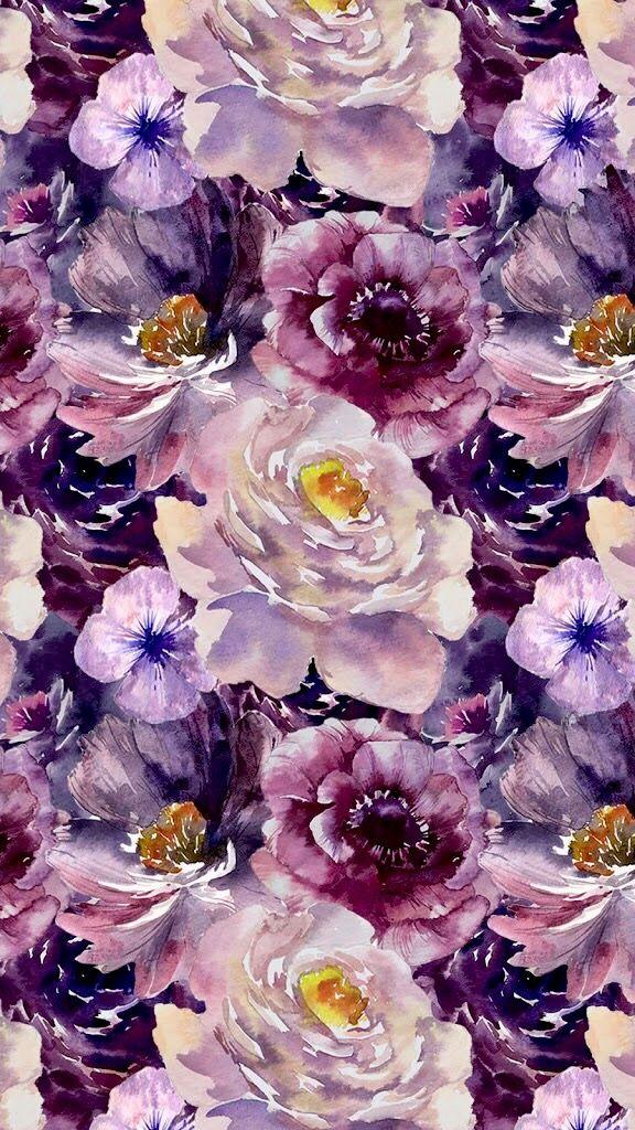 Purple Flowers Pattern Ilustration Background Wallpaper Best Flower Wallpaper Flower Wallpaper Iphone Wallpaper Vintage