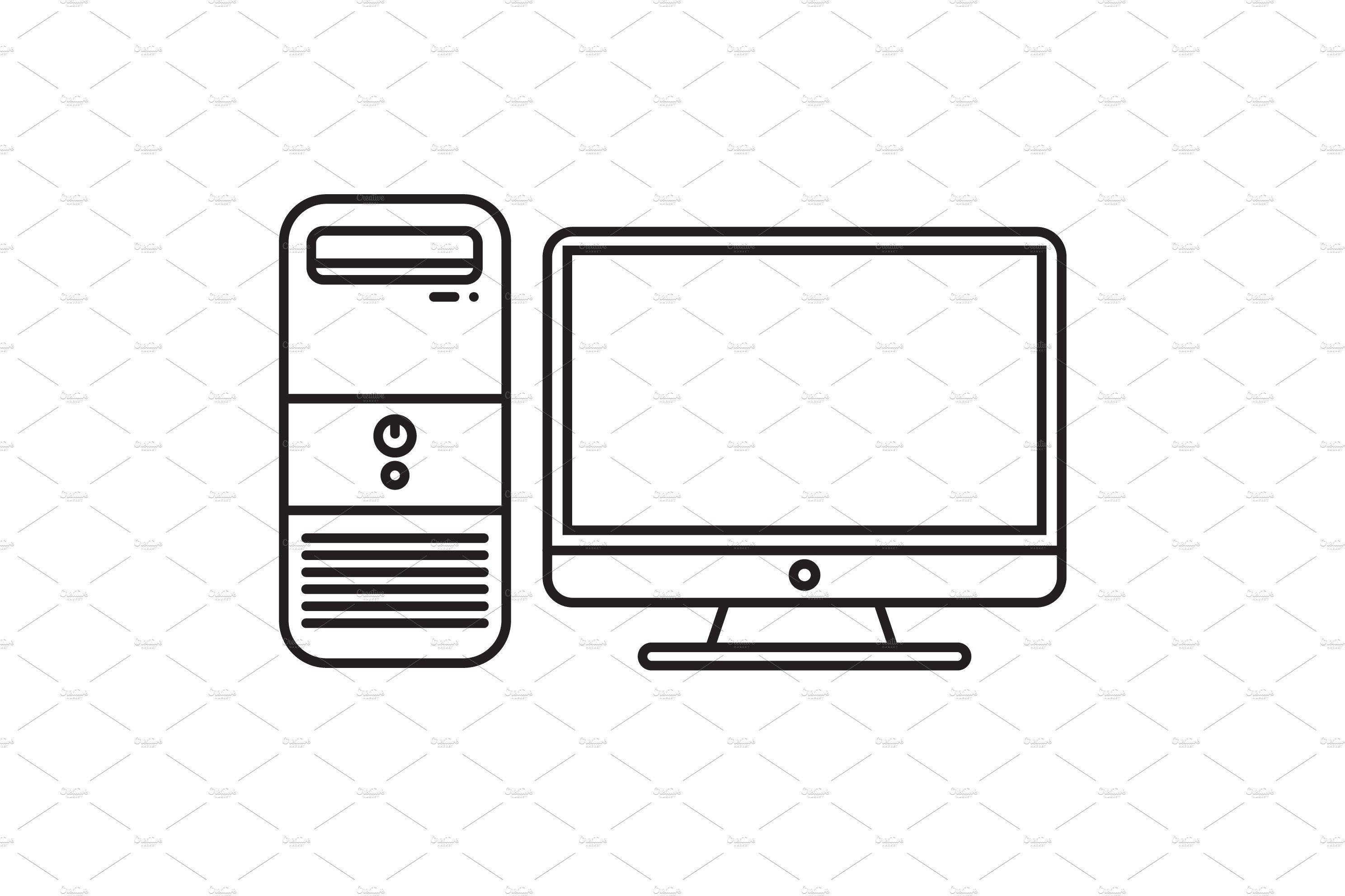 Personal Computer Icon Desktop Comp Computer Icon Computer Sketch Icon