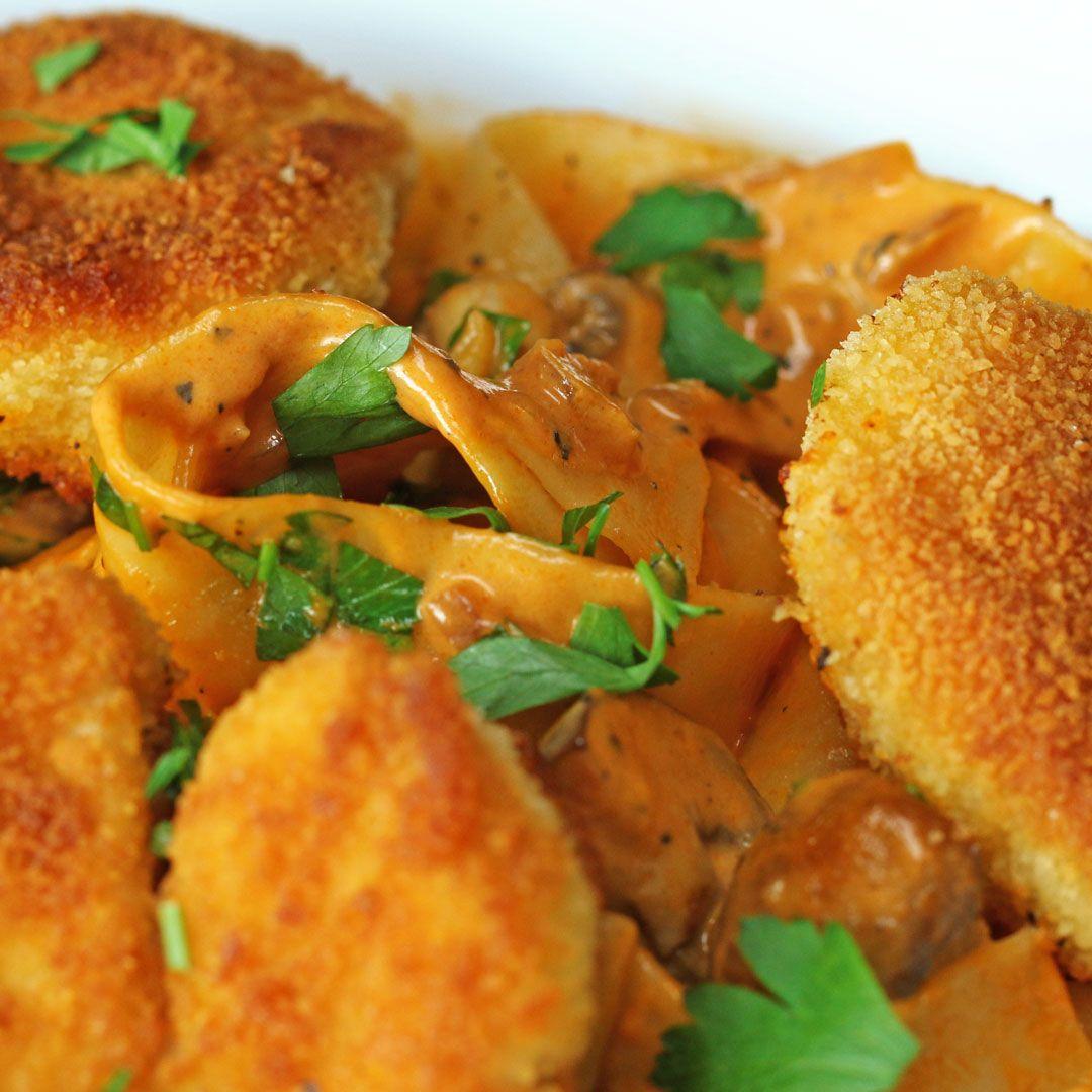 Mini-Jägerschnitzel-Pasta #recettesdecuisine