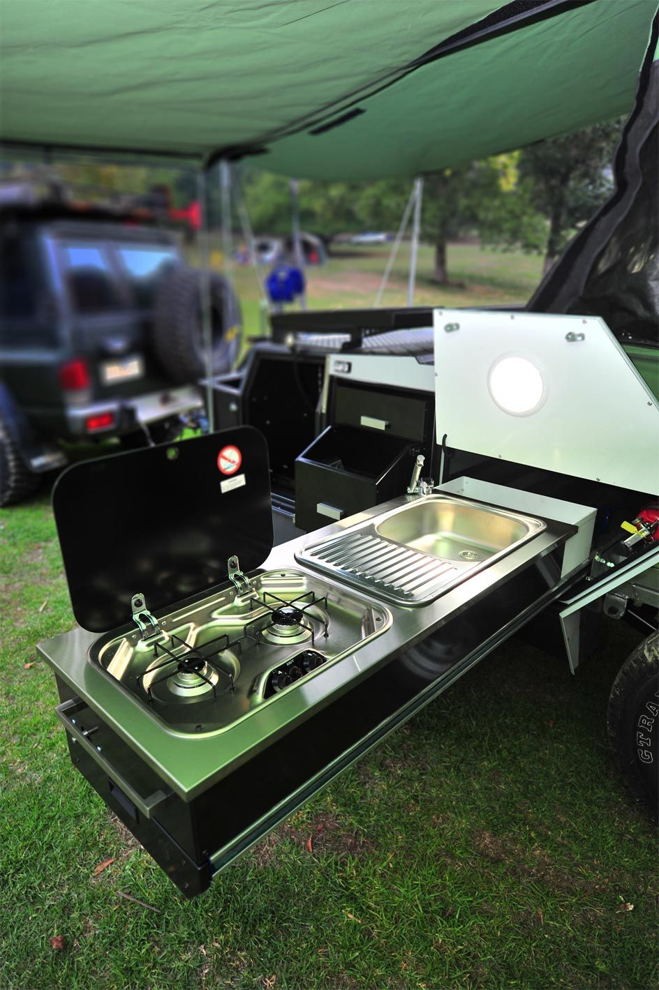 Camping Stove And Sink Unit