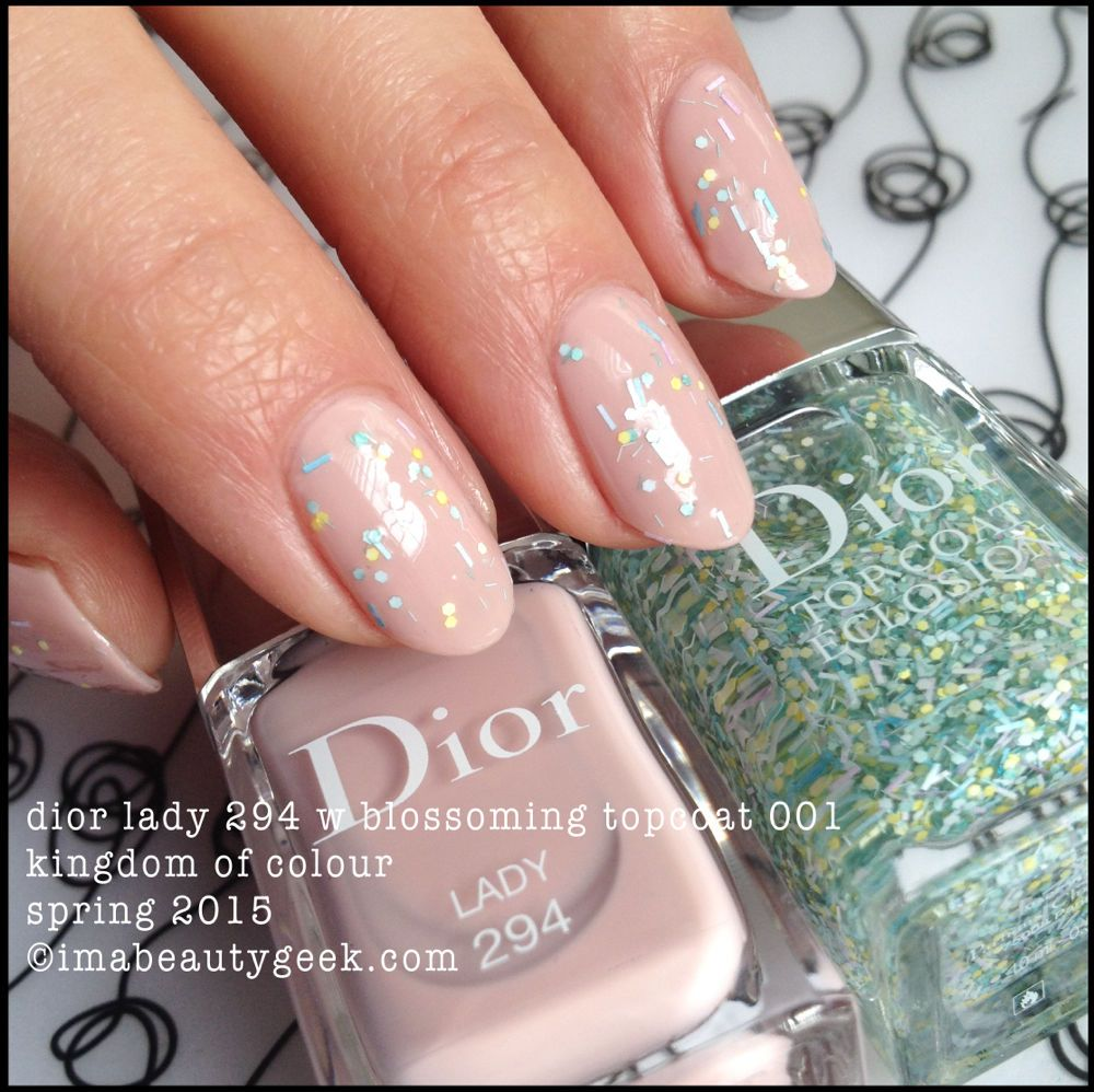 dior lady 294 with blossoming top coat 001 kingdom of colours