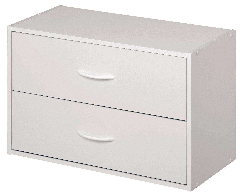 Amazon.com: ClosetMaid 1566 Stackable 2-Drawer Horizontal Organizer, White:  Home - Ingenious Black Closetmaid Cabinet Roselawnlutheran