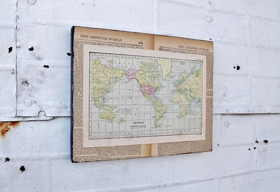 Antique map canvas wall art 1904 world map by knickoftime on etsy antique map canvas wall art 1904 world map by knickoftime on etsy gumiabroncs Gallery