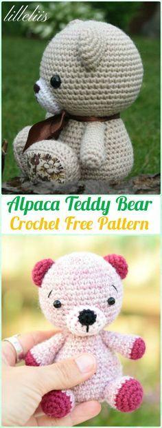 Amigurumi Crochet Alpaca Teddy Bear Free Pattern - Amigurumi Crochet ...