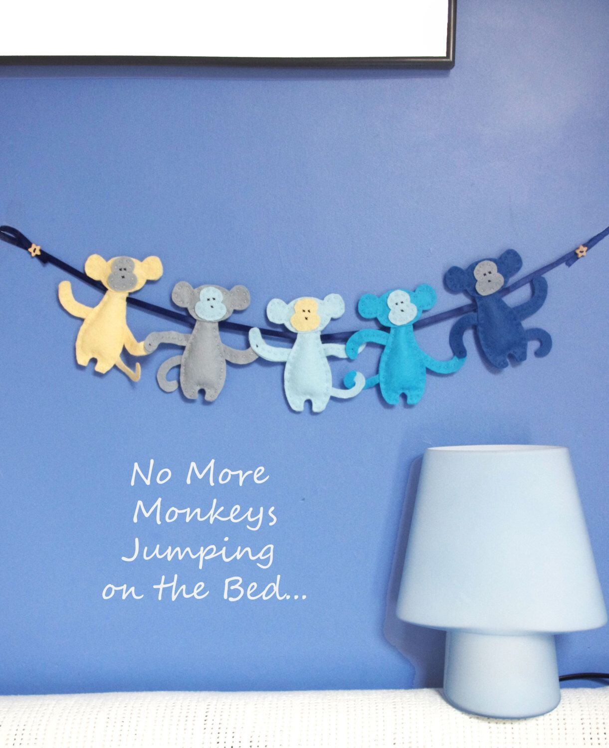 Monkey Bedroom Decorations Monkey Nursery Garland Felt Kids Bedroom Decor Baby Boys Wall