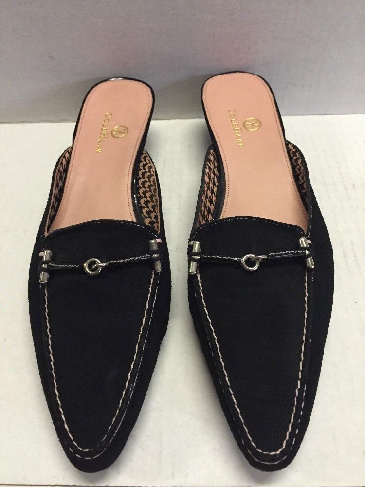 1602abca1f2 Cole Haan Black Suede Kitten Heel Women s Shoes Size 7.5 AA Nice!  ColeHaan   MaryJanes  Casual